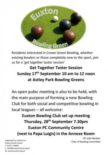 Bowling Taster Day & Bowling Meeting