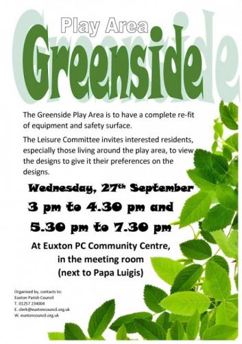 Greenside Play Area Viewing Sessions